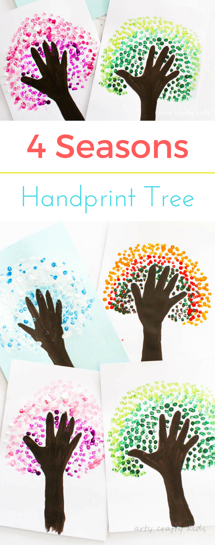 Four Season Handprint Tree   Arty Crafty Kids