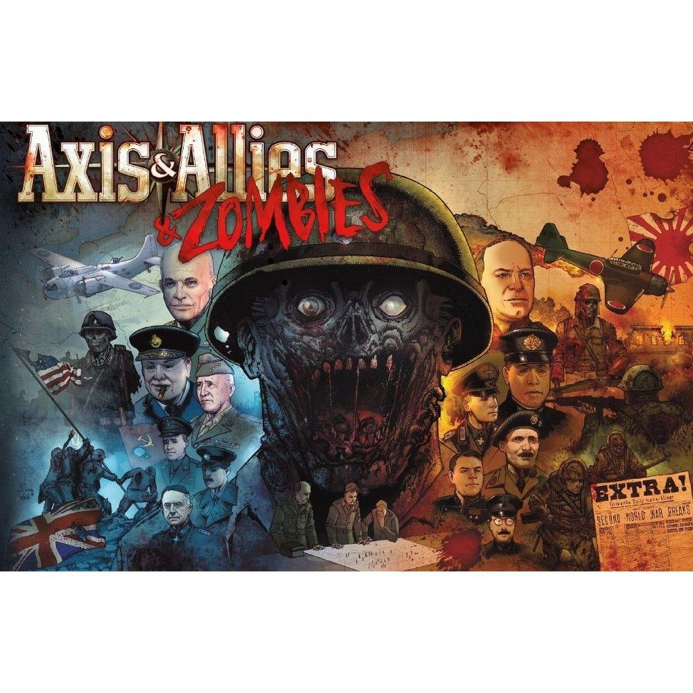 Axis & Allies Zombies Board Game Zombie board game