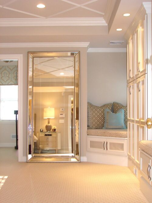 Leaning Mirror Home Floor