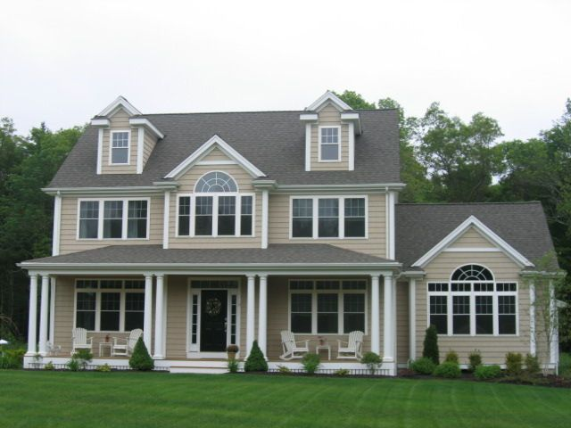 Homes with farmers porches 3100 sq ft colonial with for Custom colonial homes