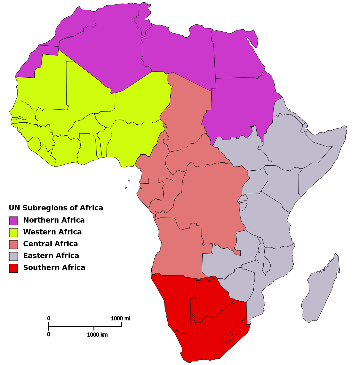 Image result for map of north, west, central, east and southern