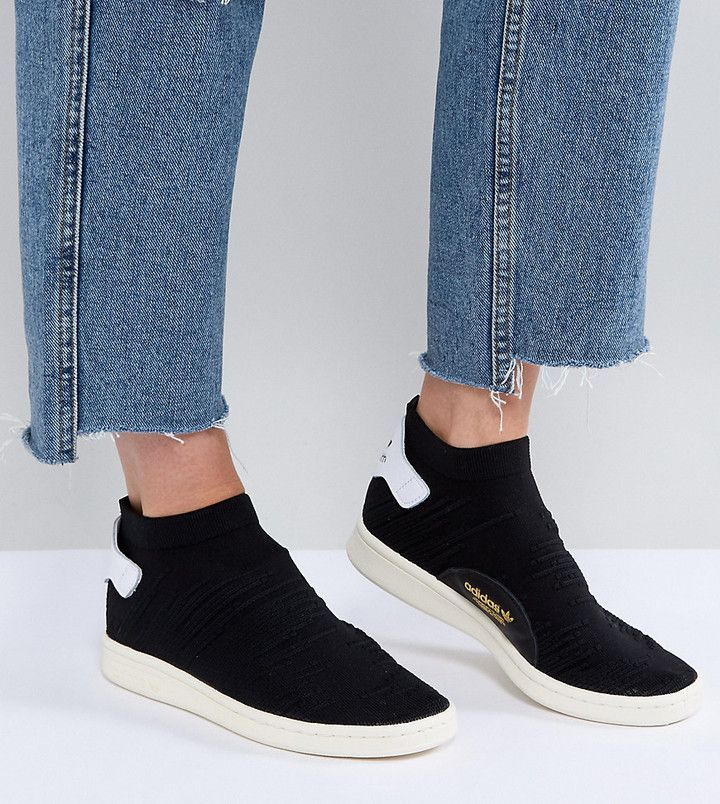 adidas Originals Black Stan Smith Primeknit Sock Sneakers