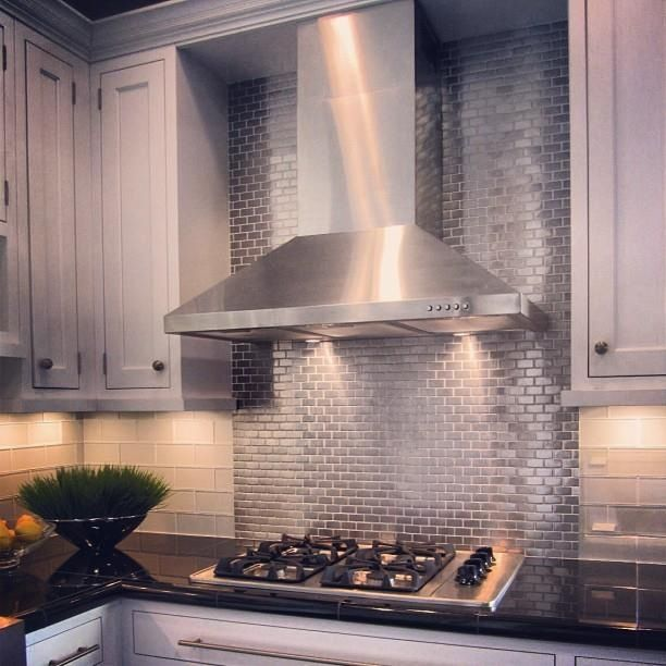 Stainless Steel Mosiac Tile Behind Stove Then Different