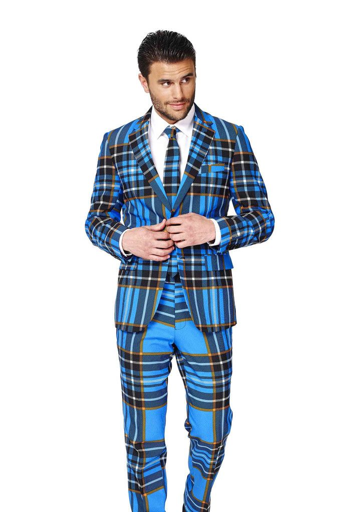 40c0d390ed3 Maybe we need ridiculous matching suits for Scotland! Shinesty Suits  Collection  The Highlander Blue Tartan Plaid Suit