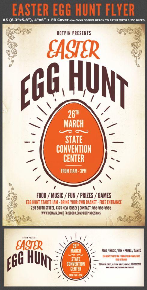 Easter-Egg-Hunt-Flyer-Preview Creative Inspiration Pinterest