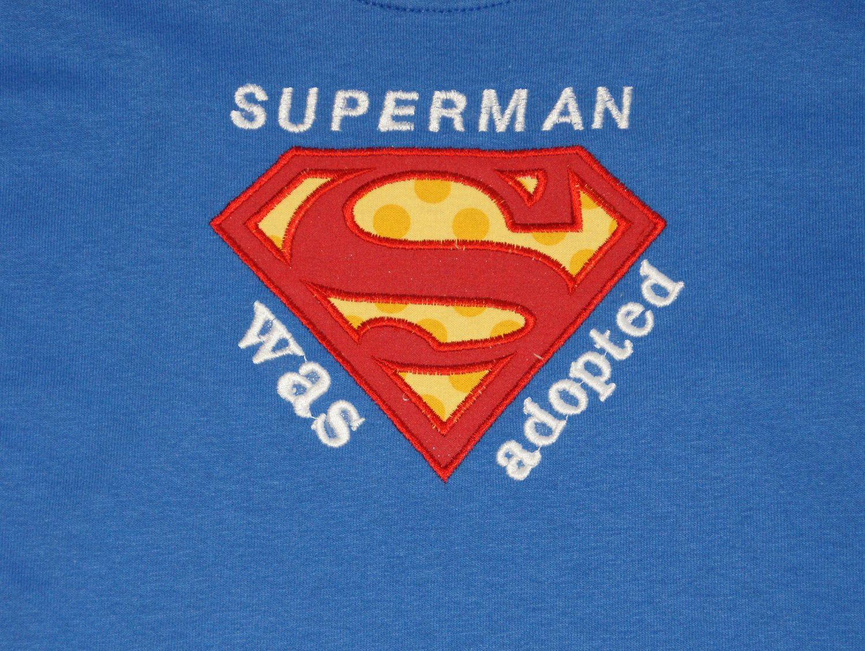 Superman Adoption shirt or onsie. 20.00, via Etsy