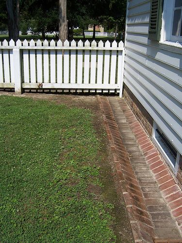 fence and ground gutter yard
