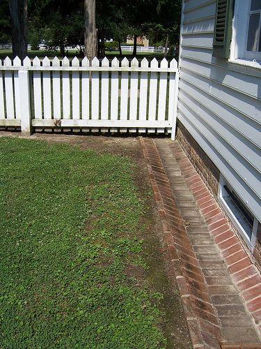 Fence And Ground Gutter Yard Drainage Rain Garden Backyard Landscaping