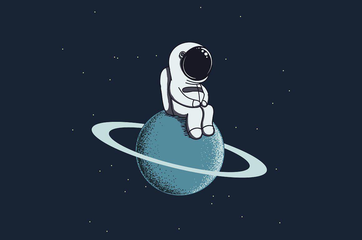 Cute Spaceman Space Drawings Astronaut Art Space Artwork