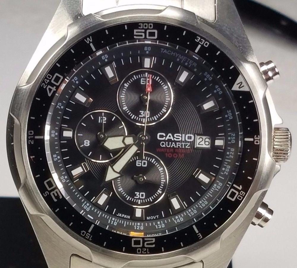 Chronograph Date Quartz Men Amw Casio Stainless Steel Watch2328 dxCBoe