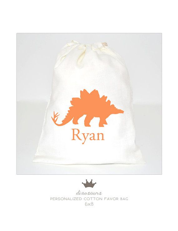 Dinosaurs Favor Bag Personalized By Petitecadeau On Etsy 3 50 Dinosaur Favors Dinosaur Favor Bags Favor Bag