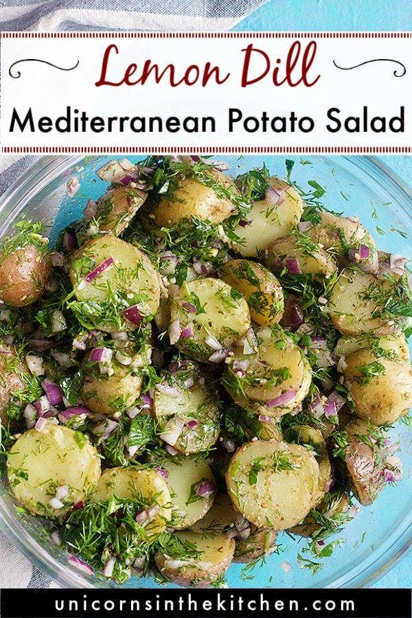 Photo of Easy Mediterranean Potato Salad � Unicorns in the Kitchen
