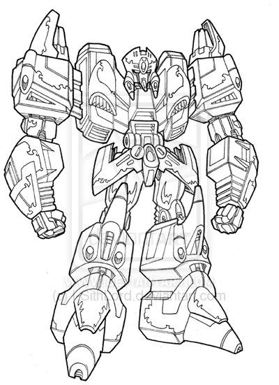 Mysterious Transformer Lineart I Sith Lord