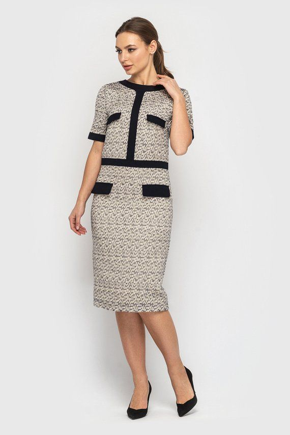 40b1002ed9c Tweed Pencil Dress