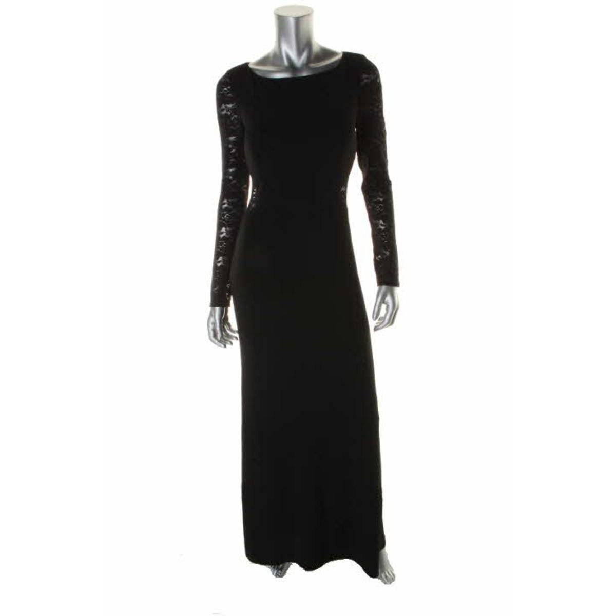 Laundry by shelli segal womens lace back long sleeves evening dress