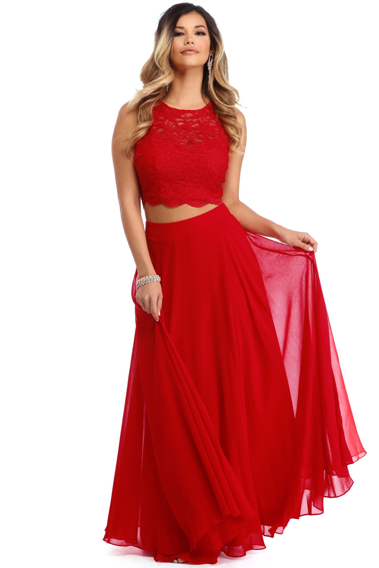 Danelle Red Vibes Two Piece Windsor Bridesmaid Dresses Club Dresses Dresses [ 2247 x 1500 Pixel ]