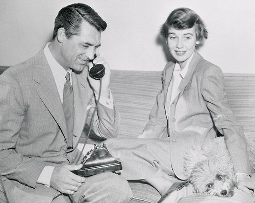 Cary Grant & his third wife, actress Betsy Drake (via corbis)