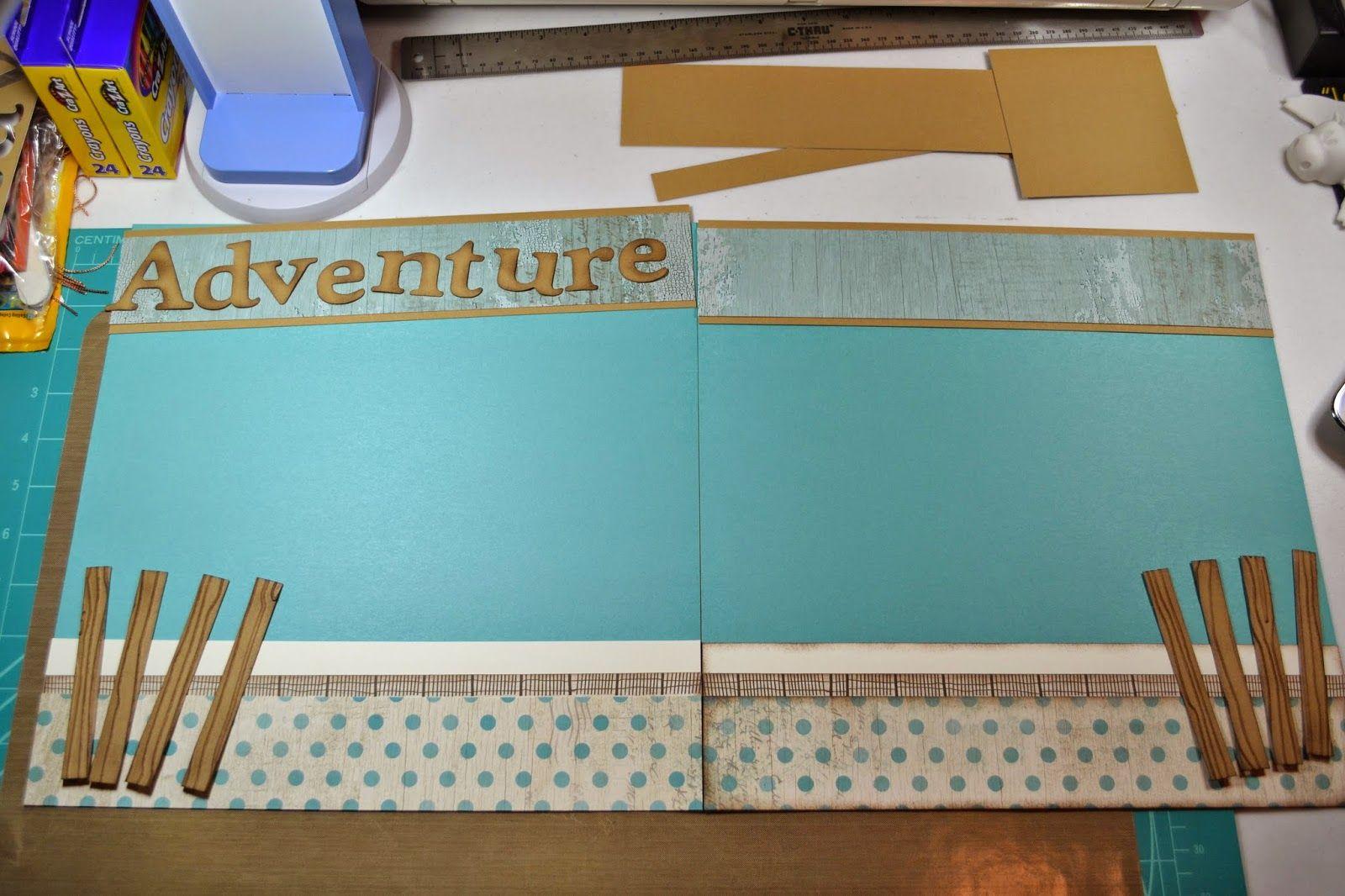 Kim Ferguson's Crafting Blog - Rubber Stamping and Scrapbooking: Seaside Scrapbook Layout - Scrapbook Workshop
