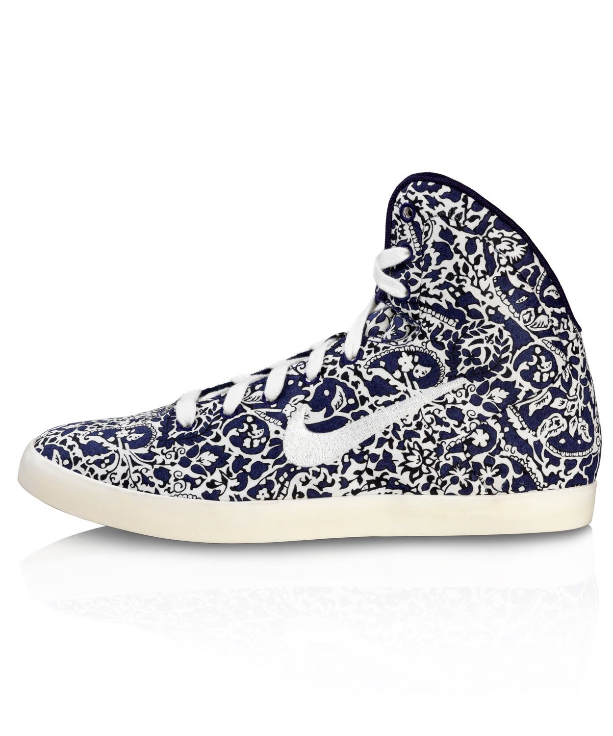 best cheap fb1b6 405c4 Imperial Purple Liberty Print Hyperclave High Top Trainers, Nike x Liberty.  Shop the latest
