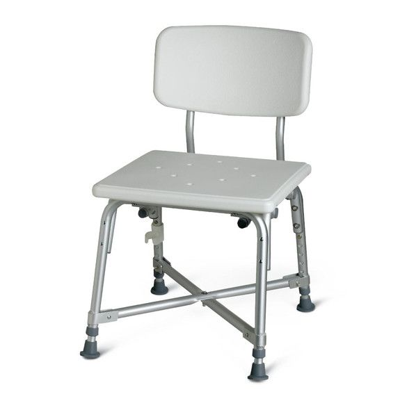 Bariatric Aluminum Shower Bath Bench with Back - BH Medwear