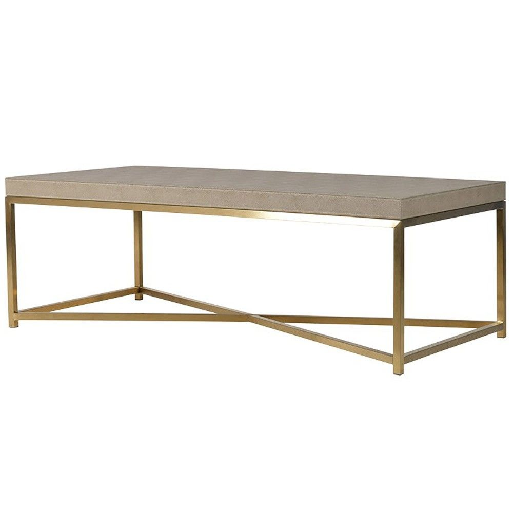 collection faux shagreen coffee table | coffee