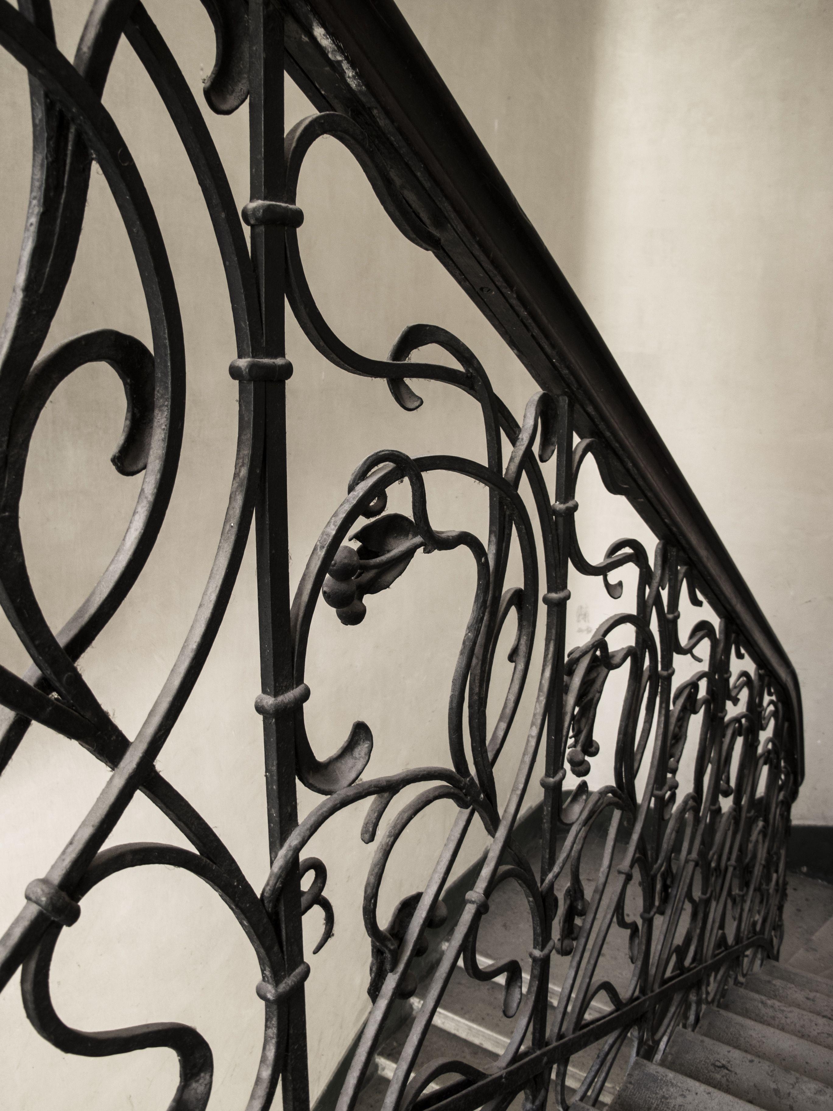 Simple Wrought Iron Interior Stair Railing Design Buy Interior