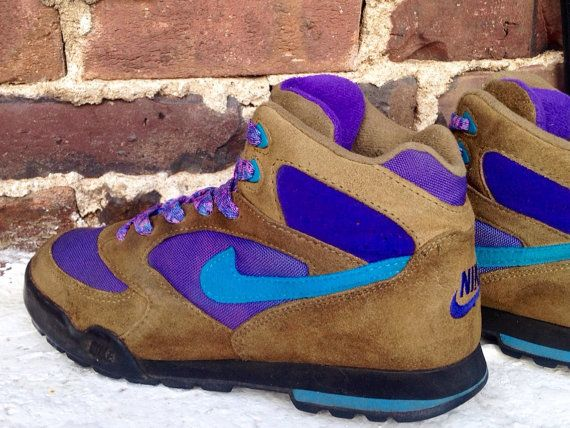 vintage retro nike hiking boots shoes mountaineer caldera plus quad tone  lava… e17c2416ab