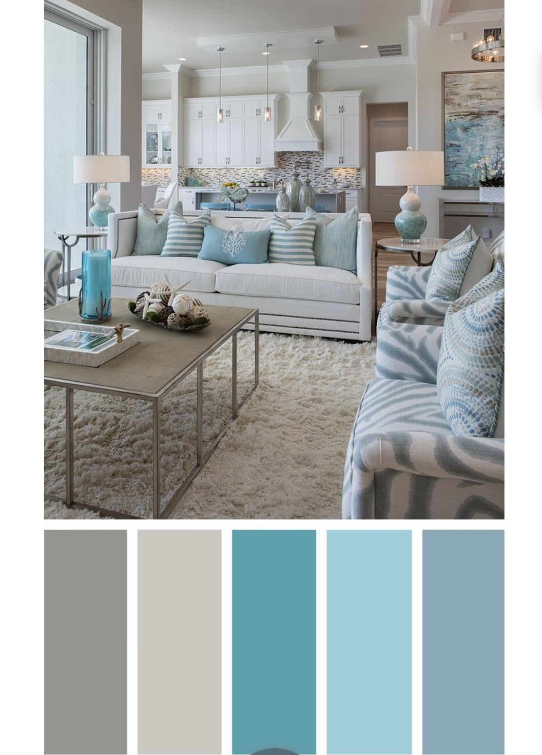 Colour scheme kitchen dining colors in 2019 room color - Kitchen living room color combinations ...