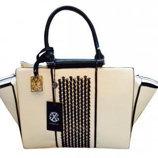 Christian Lacroix - Christian Lacroix CXL White  Black Handbag with  shoulder strap  8c5ad28f4dee6