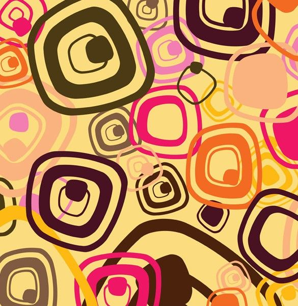 Cool Retro Abstract Shapes Vector Background | Abstract | Pinterest
