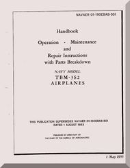 Grumman TbmS Handbook  Operation Maintenance And Repair
