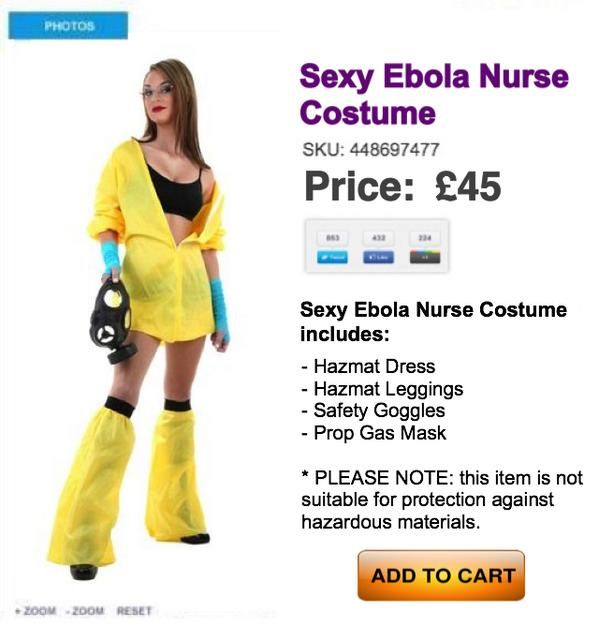 """Esto en realidad es inapropiado: """"Sexy Ebola Nurse"""""""