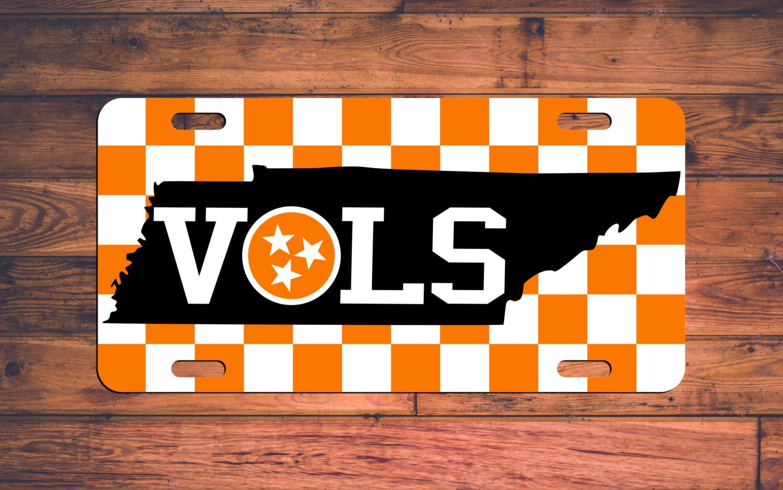Tennessee VOLS License Plate TN Volunteers Car Tag - Go Big ORANGE ...