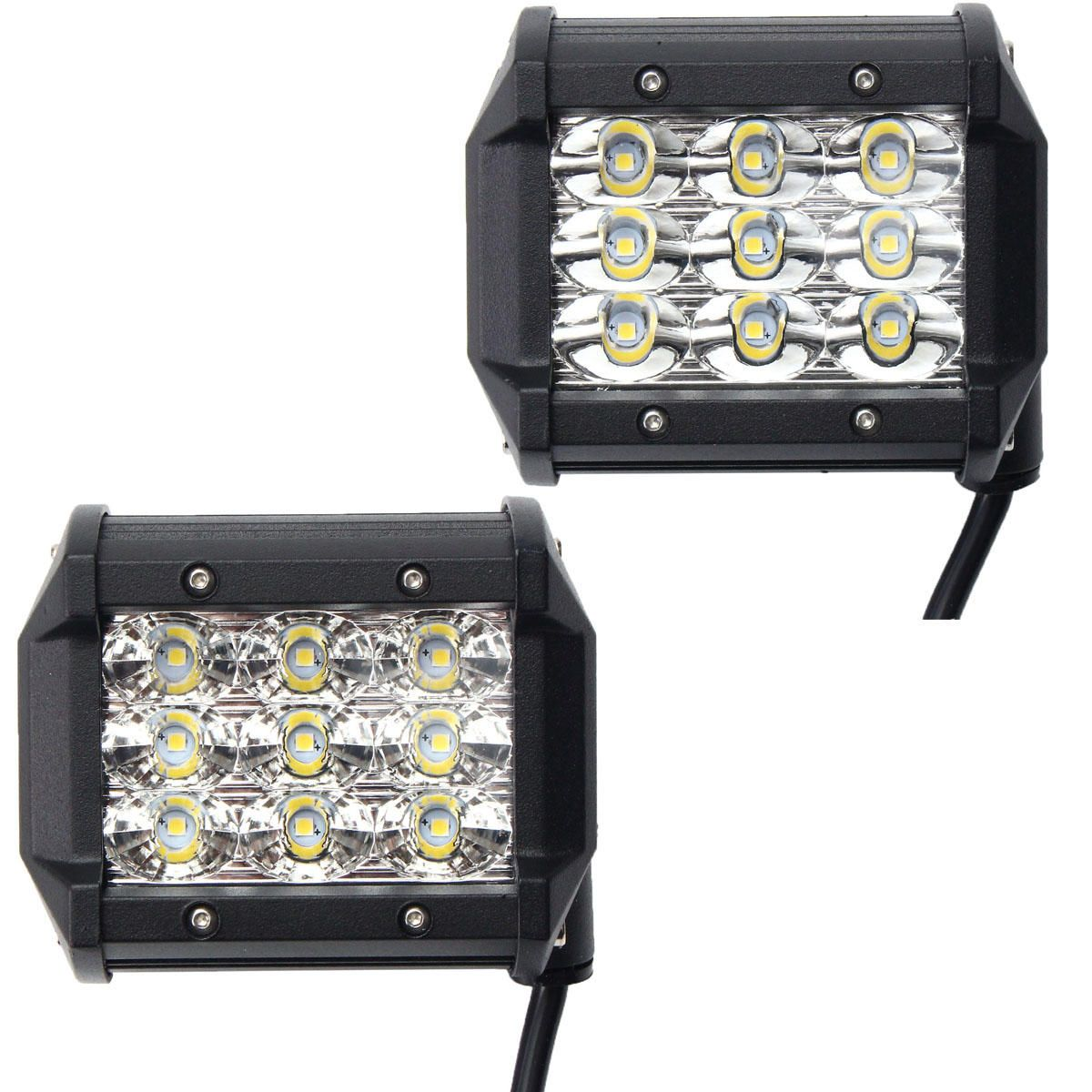 4 inch 54w led flood beam car offroad truck work light dc 10 30v 4 inch 54w led flood beam car offroad truck work light dc 10 30v aloadofball Image collections