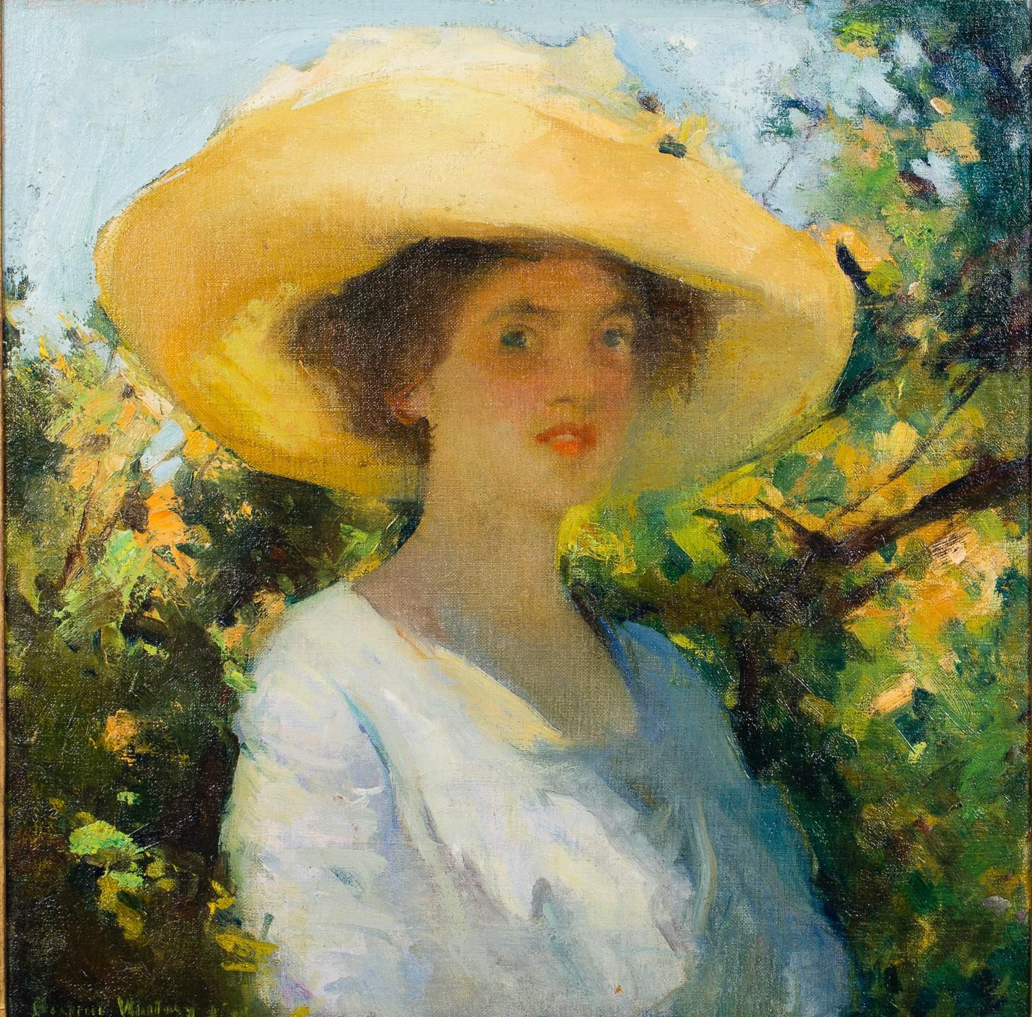 Young Woman with a Wide Brimmed Hat, Beatrice Whitney Van Ness ...