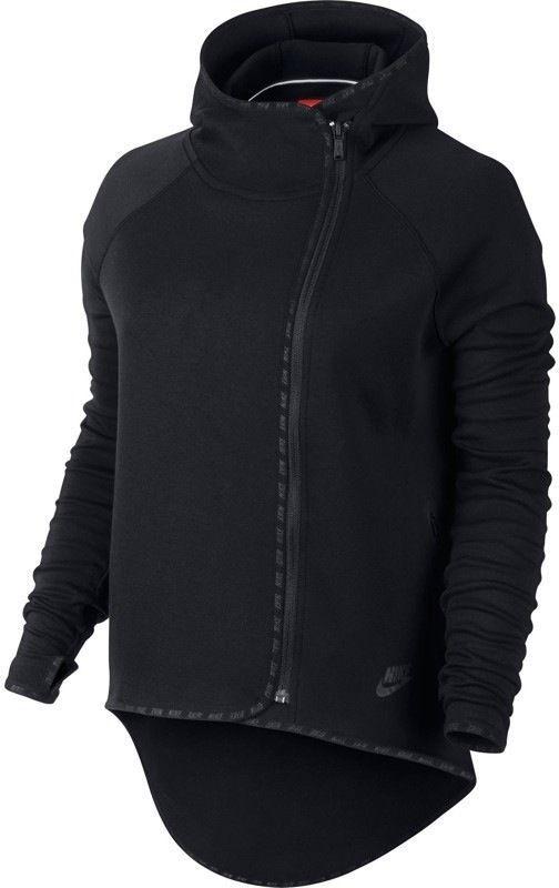Nike Tech Fleece Cape Women's Hoodie Black 655765 010 Size