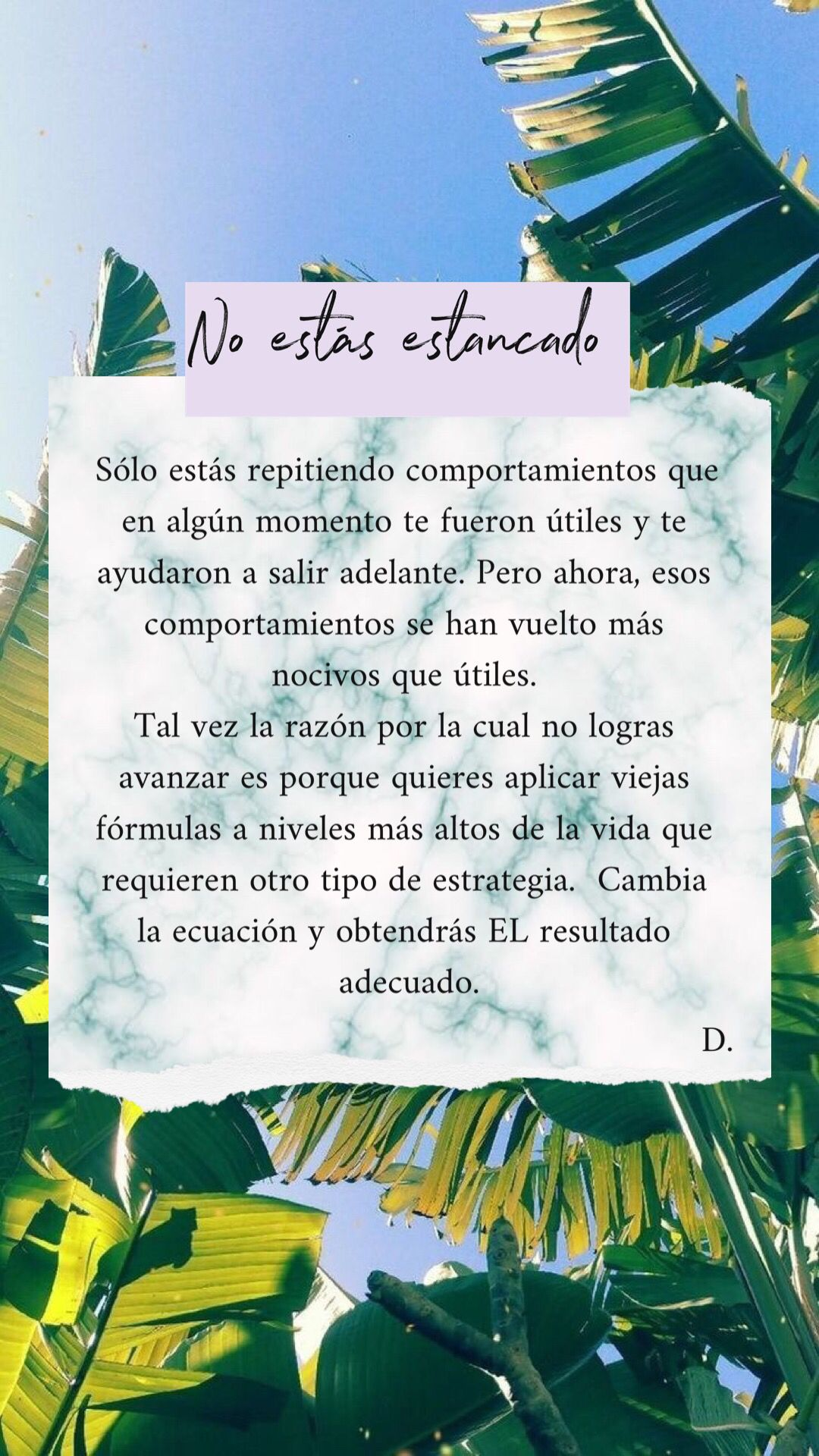 Deja de repetir esos patrones que sólo te limitan🤚🏻Abre tus posibilidades is part of Positive quotes -