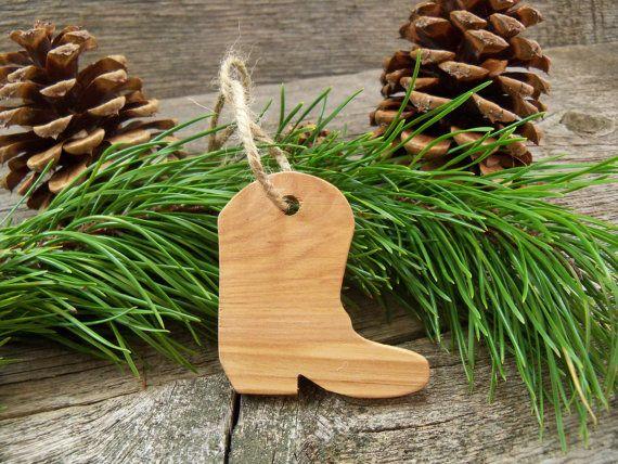 Cowboy Boot Christmas Tree Ornament Cowboy Christmas Ornament