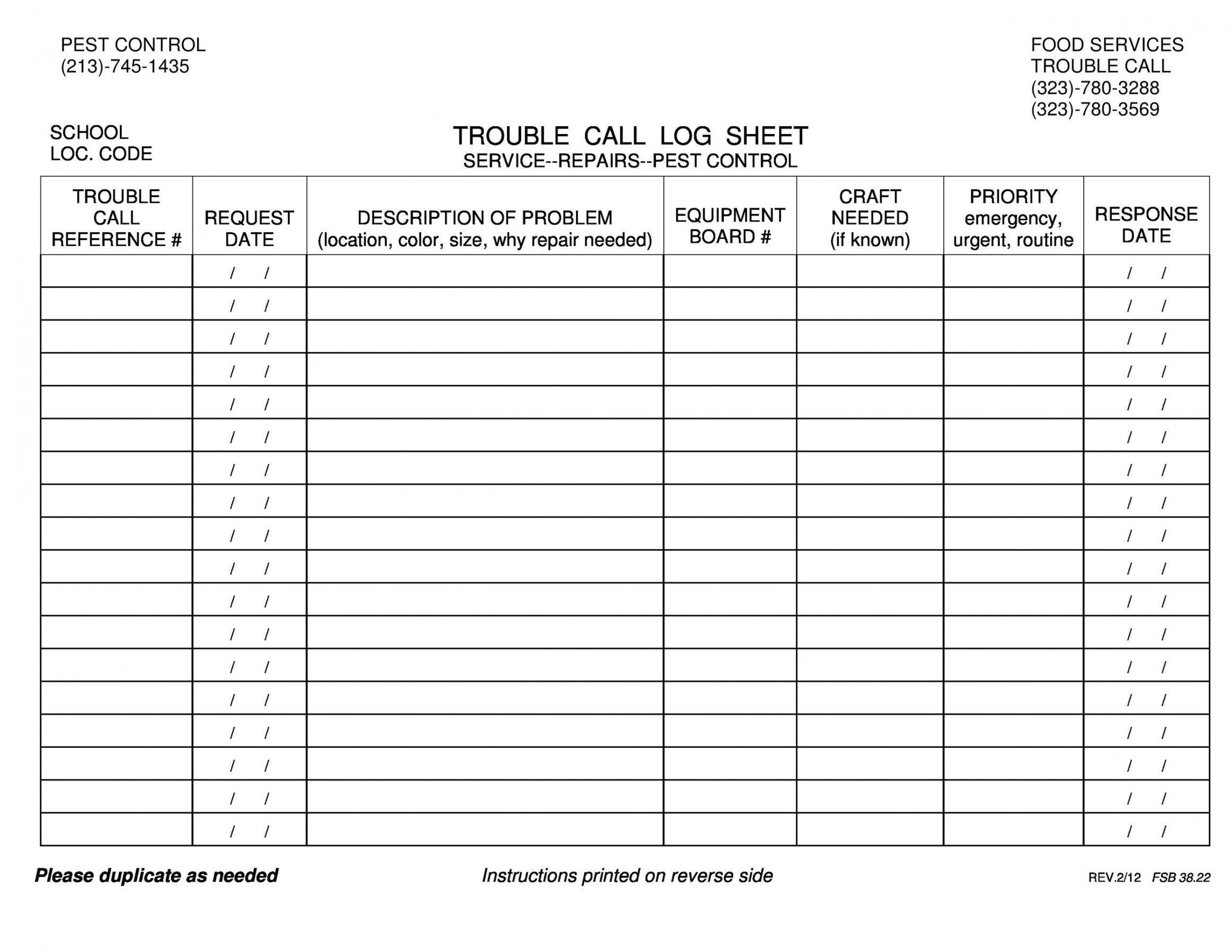 Sample 40 Printable Call Log Templates Wordexcelpdf Daily Sales Call Log Template Sample In 2021 List Template Templates Call Backs Employee call off log template