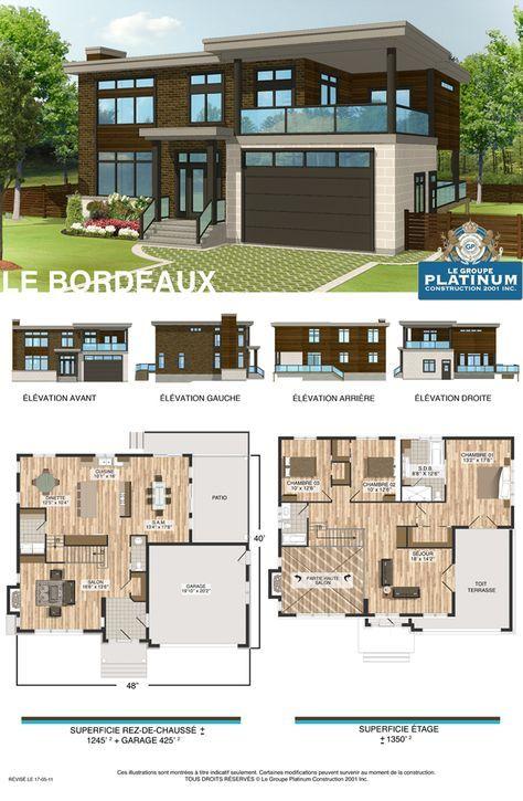 bordeaux house plan plans maison et appart Pinterest House - plan maison etage m