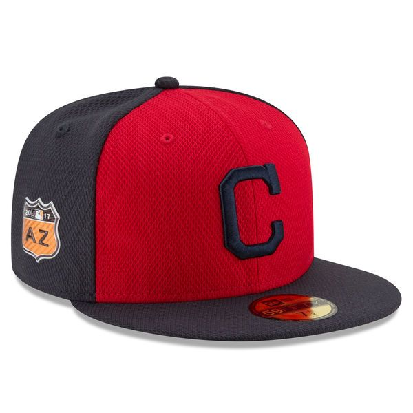 ea36a843af3 Men s Cleveland Indians New Era Red 2017 Spring Training Diamond Era  59FIFTY Fitted Hat