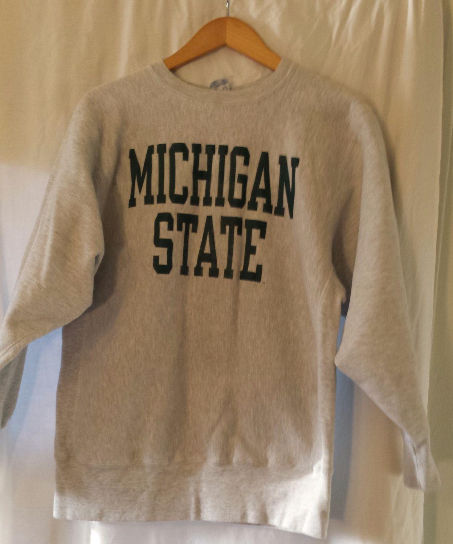 Vintage Michigan State University Sweatshirt With Green Sweatshirts University Sweatshirts Vintage Michigan [ 1500 x 1248 Pixel ]