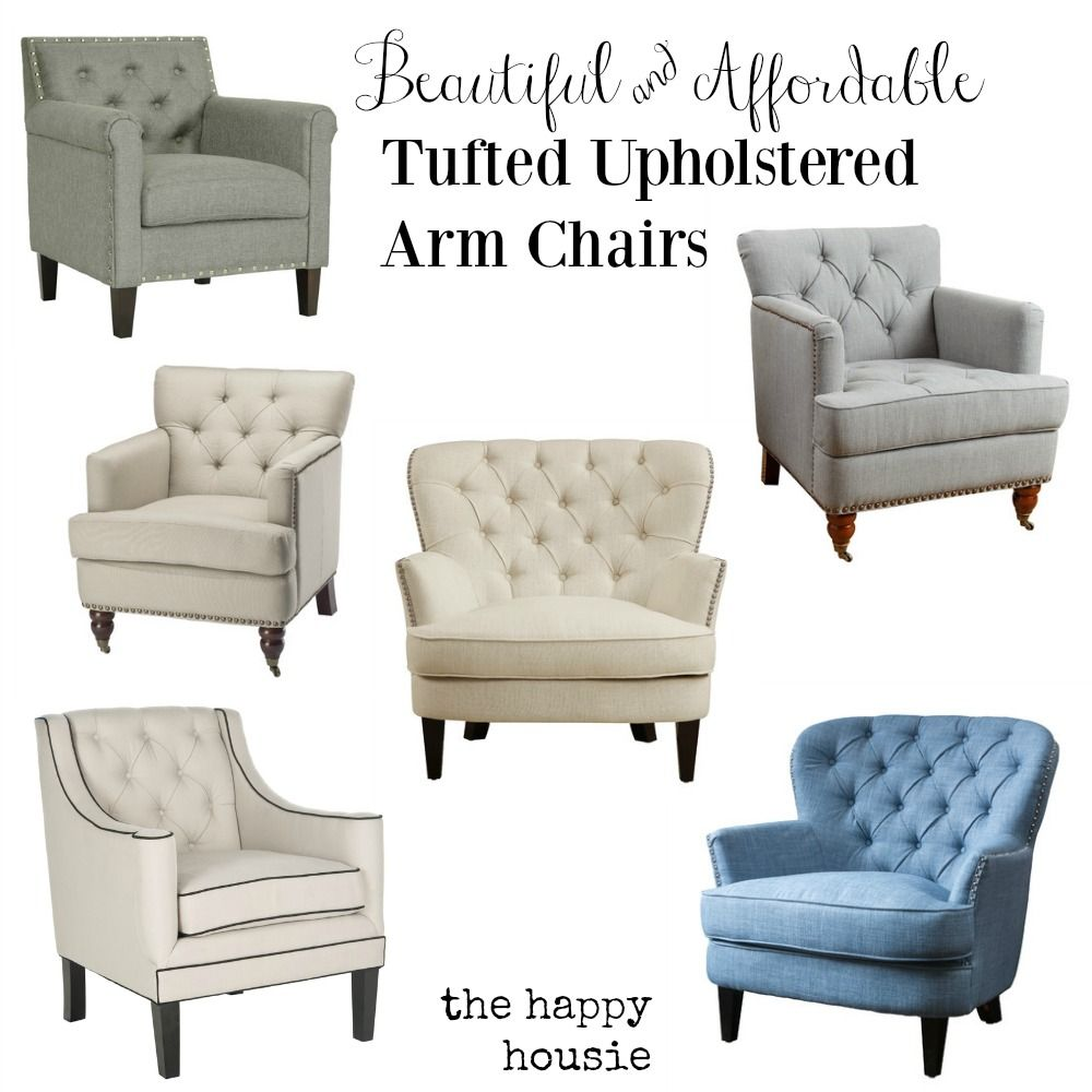 beautiful-and-affordable-tufted-upholstered-arm-chairs