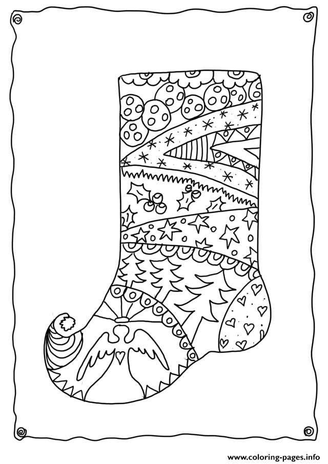 Print Christmas Adults Sotcking Coloring Pages Weihnachtsmalvorlagen Weihnachtsfarben Ausmalbilder