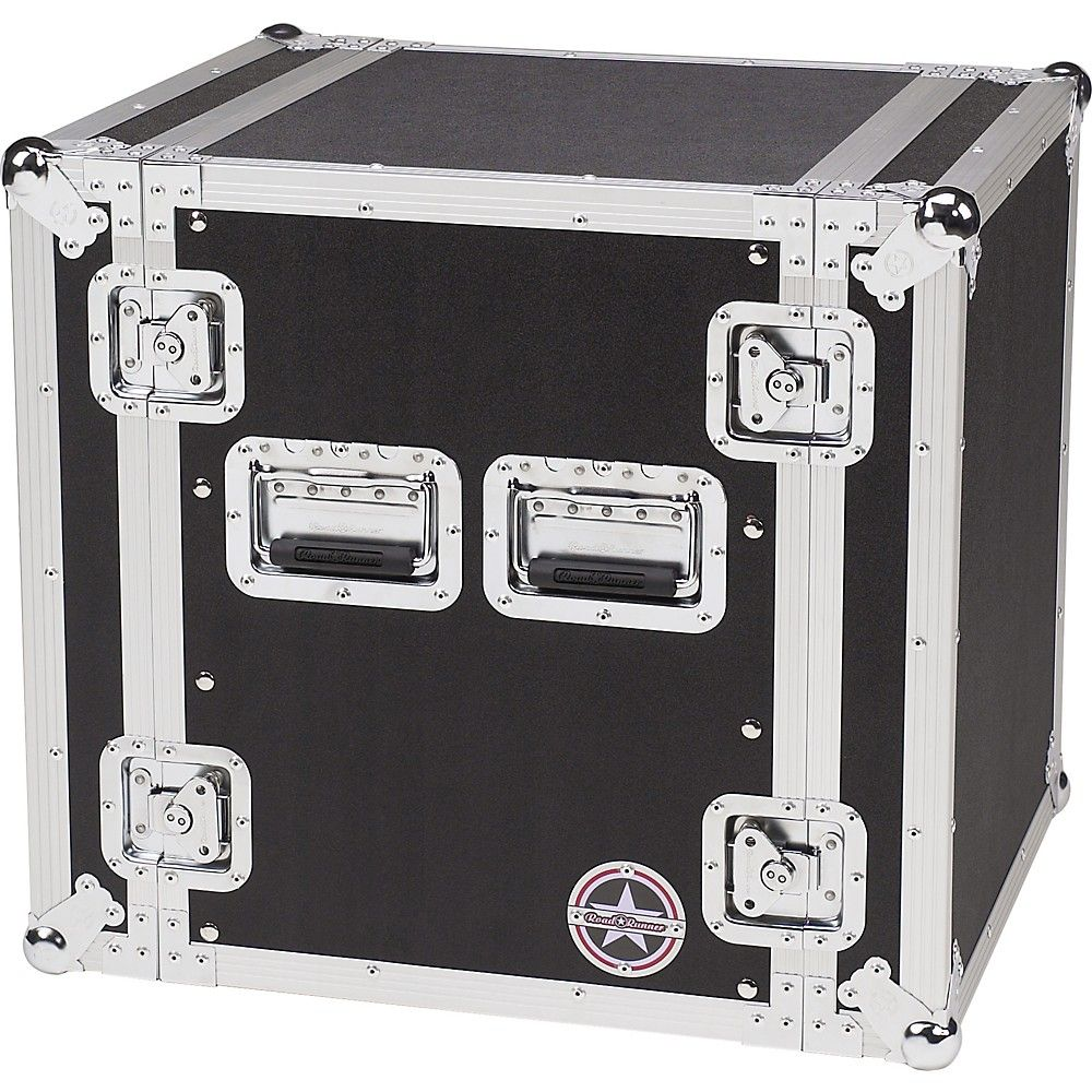 Road Runner Deluxe 12u Amplifier Rack Case Black Road Cases Rack Case