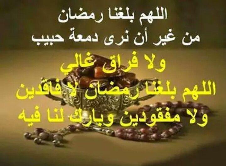 اللهم بلغنا رمضان لا فاقدين ولا مفقودين رمضان مبارك