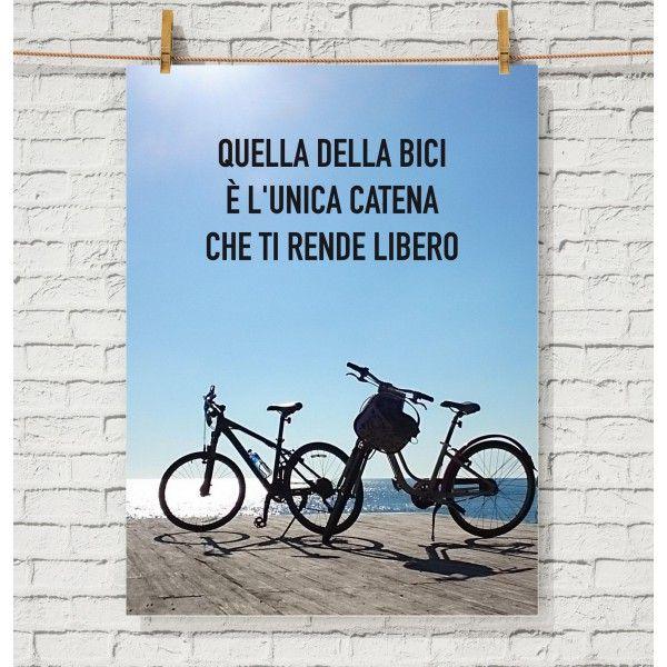 Poster Motivazionale Per Gli Amanti Della Bicicletta Frasi E