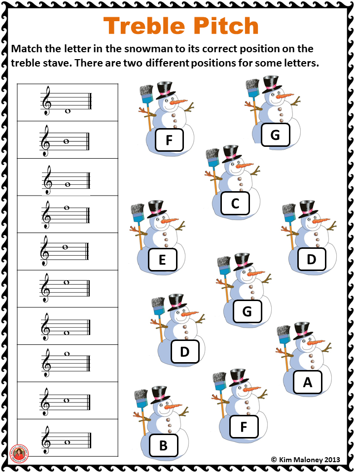 CHRISTMAS Themed Music Worksheets This PDF file contains 24 music ...