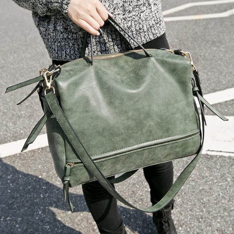 3a83d91c7ad7 New Arrive Women Shoulder Bag Nubuck Leather Vintage Messenger Bag  Motorcycle Crossbody Bags Women Bag