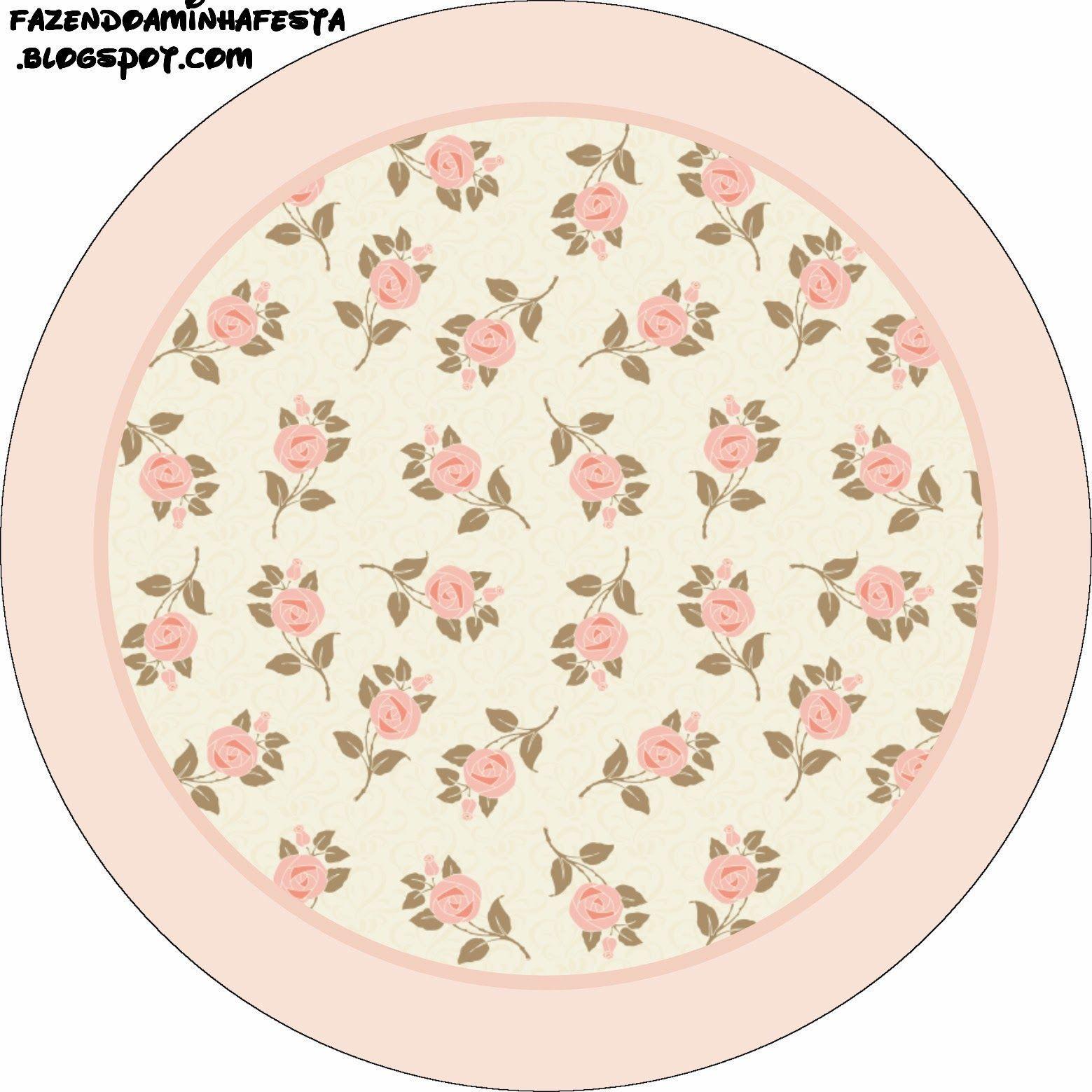 Delicadas Rosas Etiquetas Para Imprimir Gratis Etiquetas